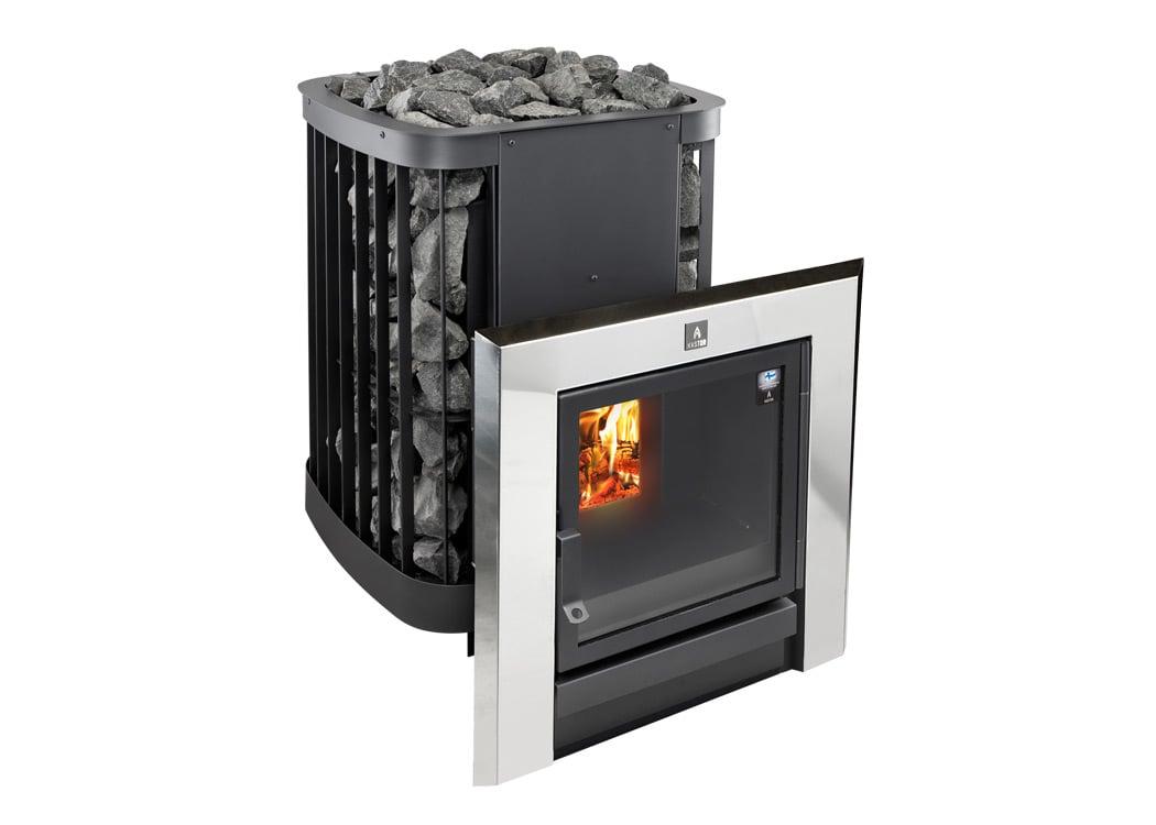 Kastor_Saga_T_chrome_wood_burning_sauna