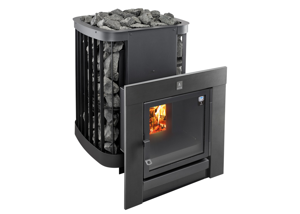 Kastor_saga_T_black_wood_burning_sauna_heater