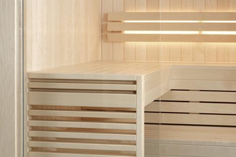 Intérieur de sauna